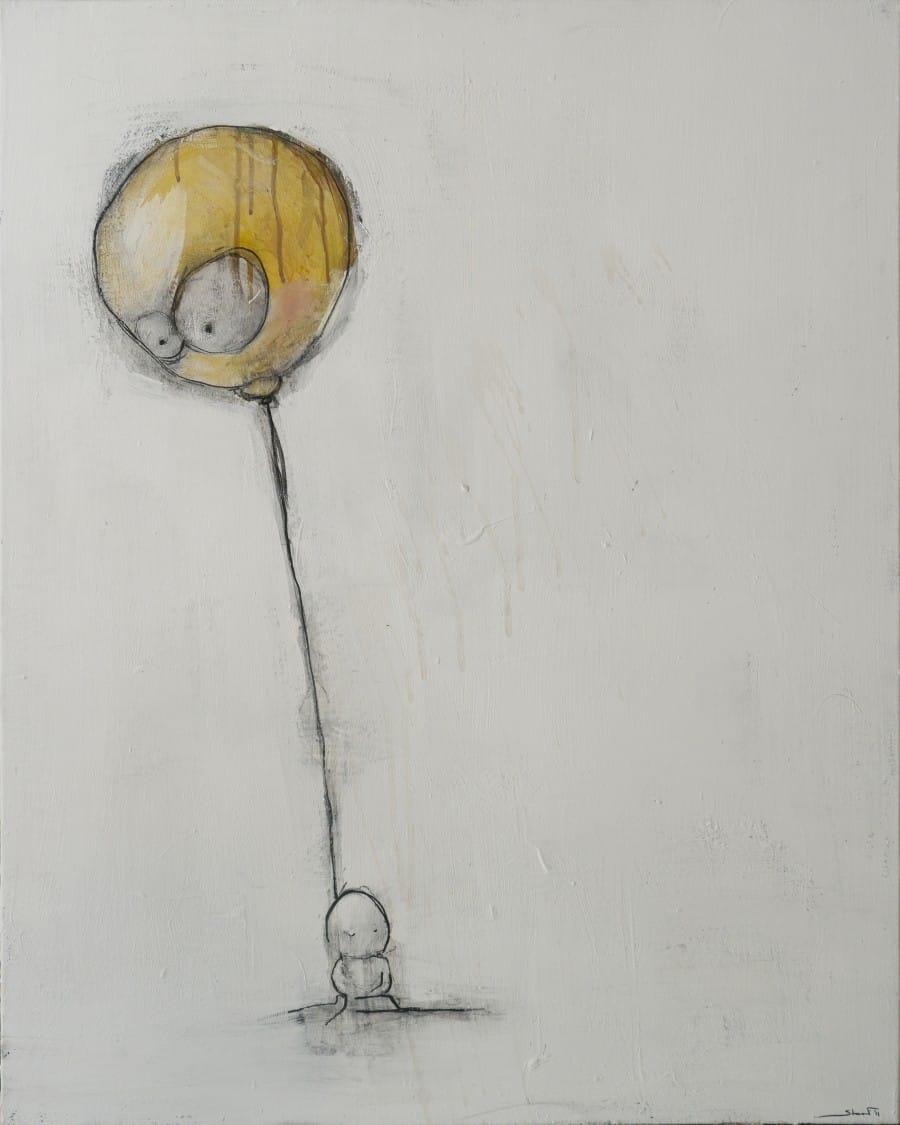 Kunst: Ballon van kunstenaar David de Winter (Staaf)