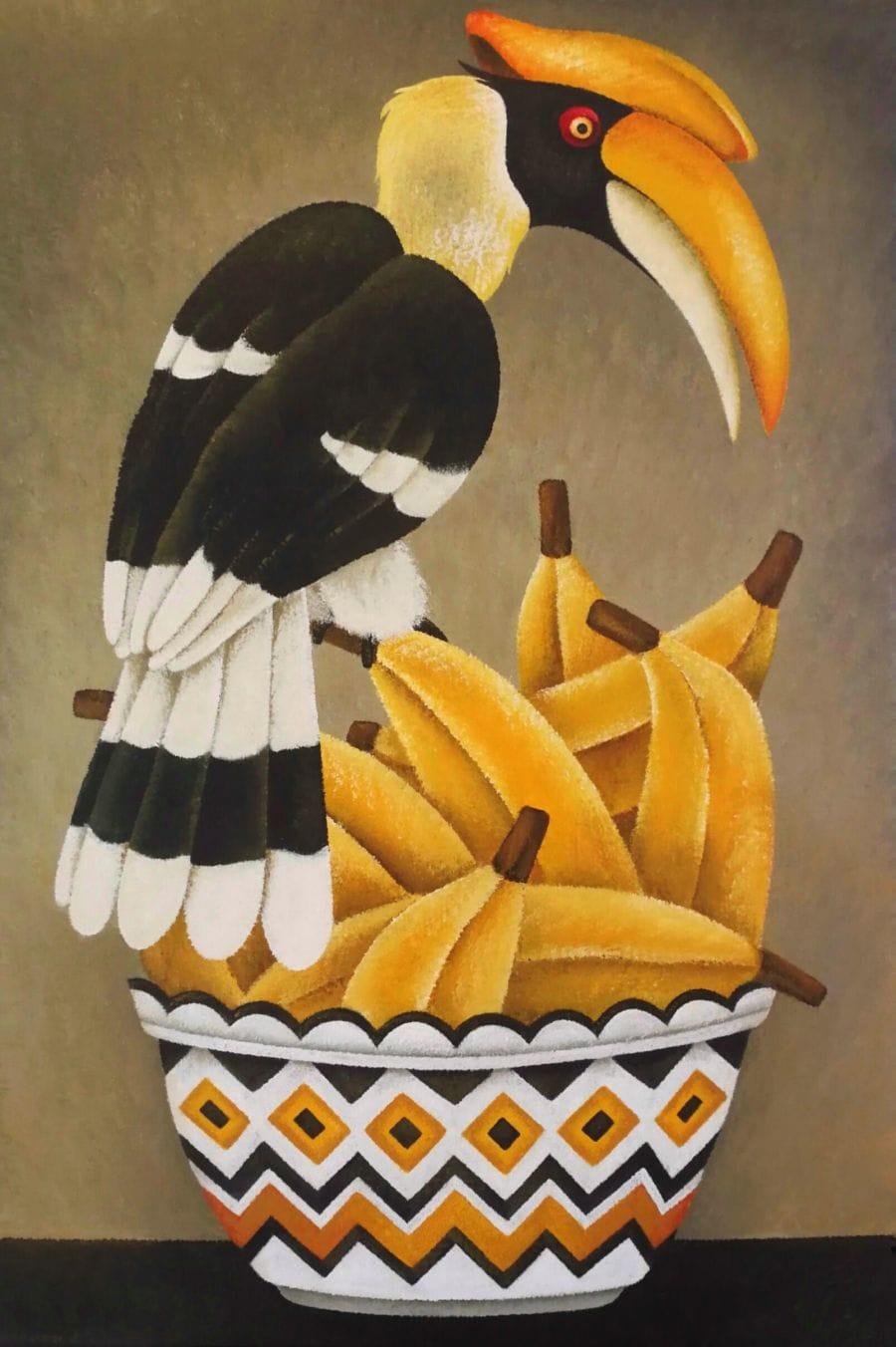 Kunst: Banana royal van kunstenaar Yvonne Zomerdijk