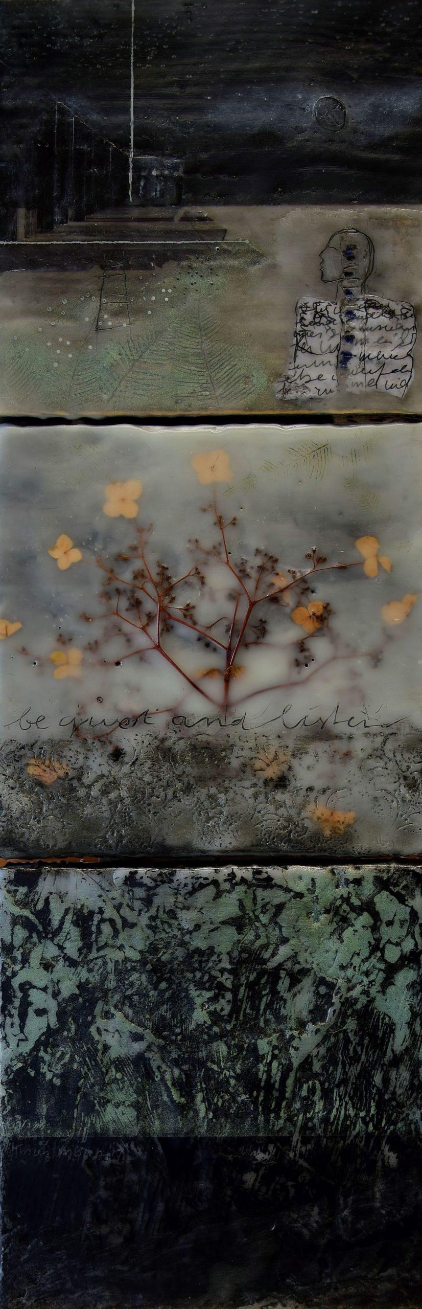 Kunst: Be quiet and listen van kunstenaar Trijnie Mohlmann