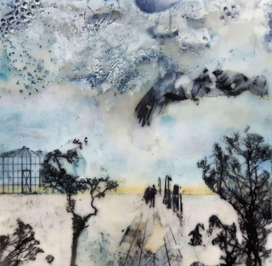 Kunst: Beach memories I van kunstenaar Trijnie Mohlmann