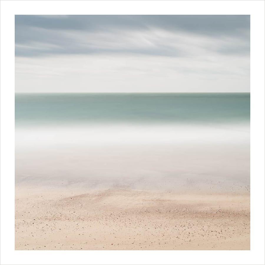 Kunst: Beach, sea, sky van kunstenaar Wilco Dragt