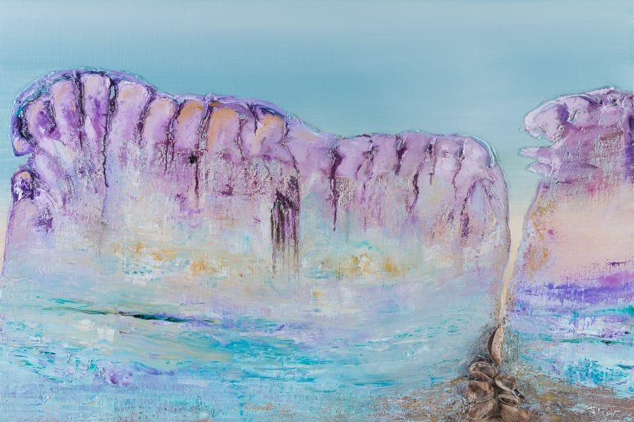 Kunst: Beneath cortex and insula van kunstenaar Els Vegter