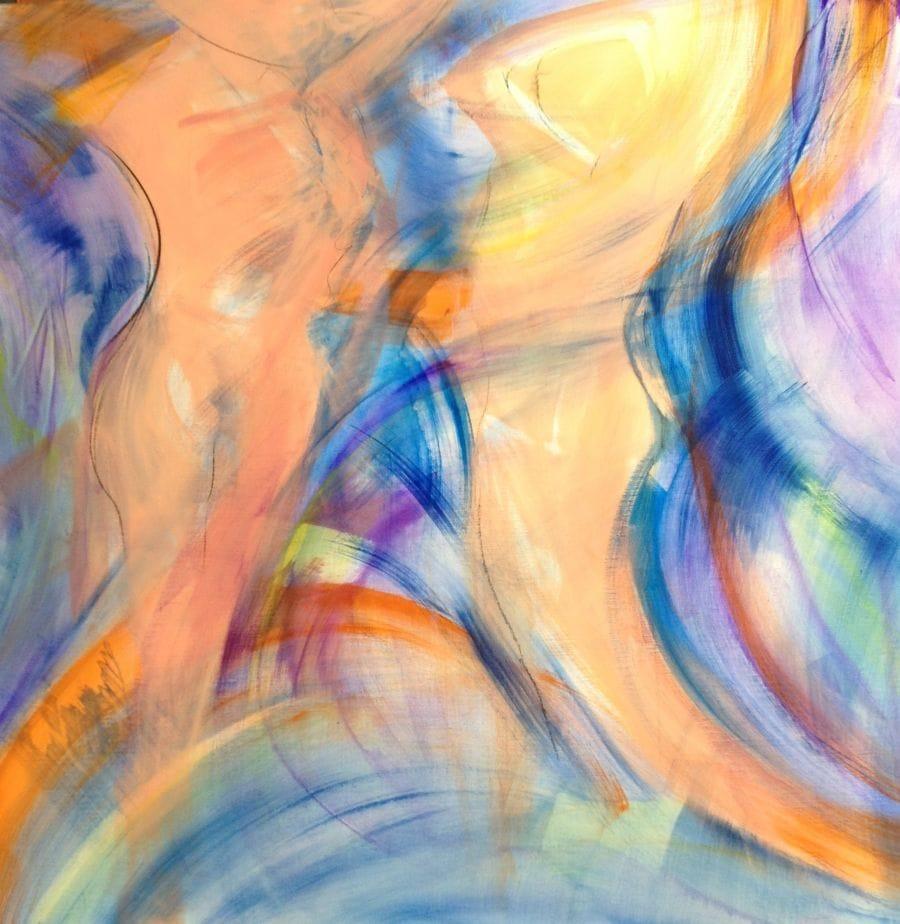 Kunst: beweging,Higgs en de mens 2015 van kunstenaar  Brighart