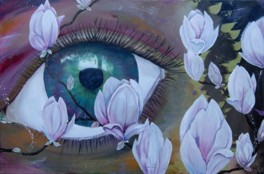 Kunst: Big Eye II van kunstenaar Tamara Sille