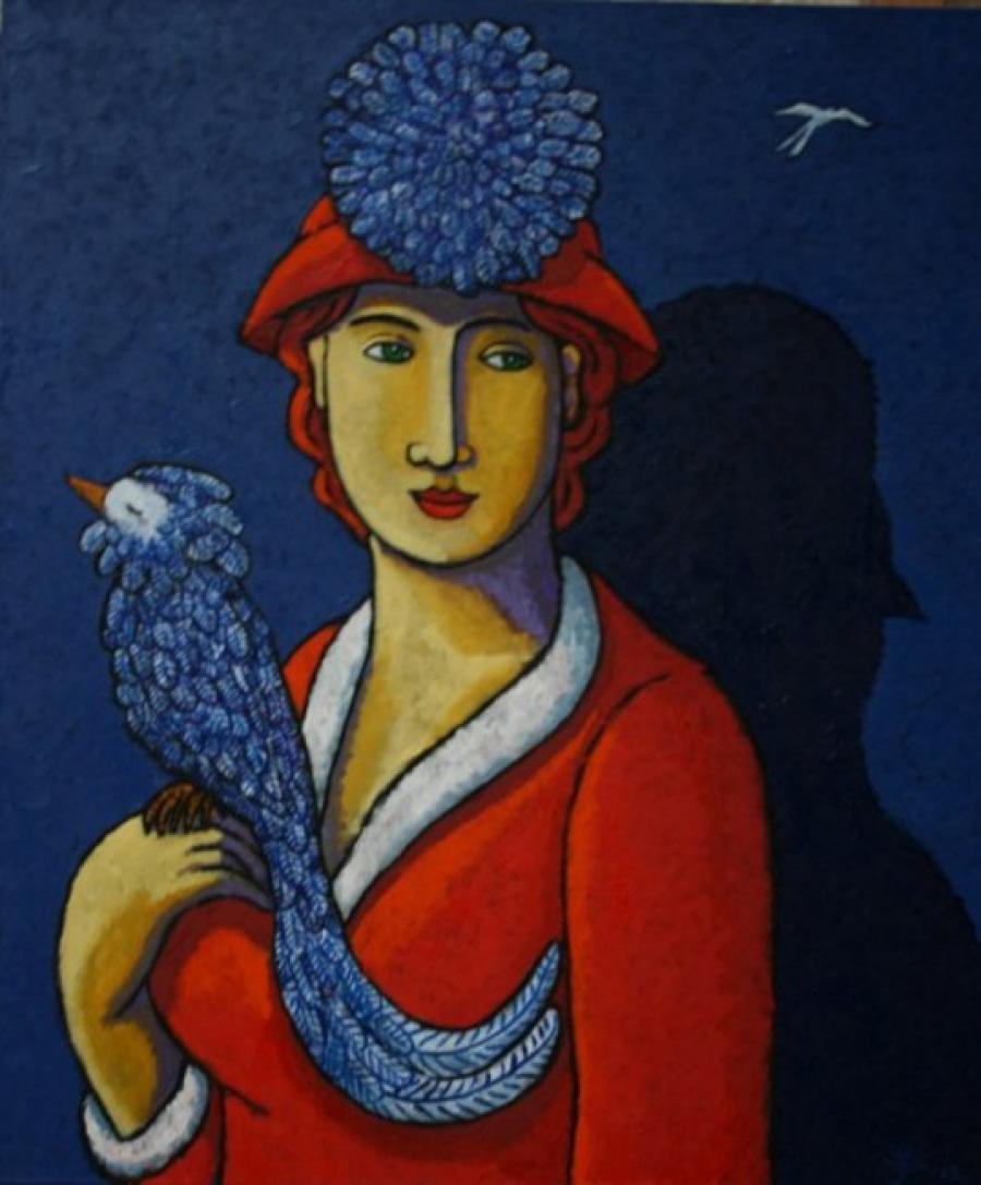 Kunst: Birds of Paradise van kunstenaar Jacques Tange