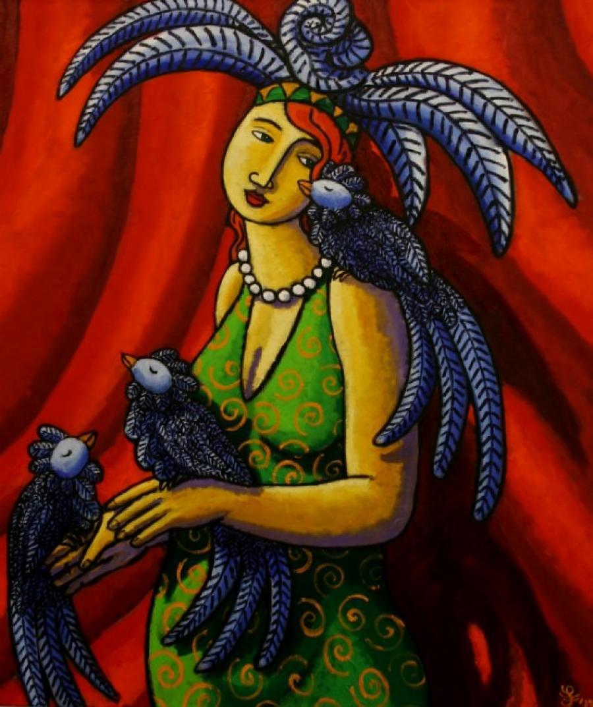 Kunst: Birds talk van kunstenaar Jacques Tange