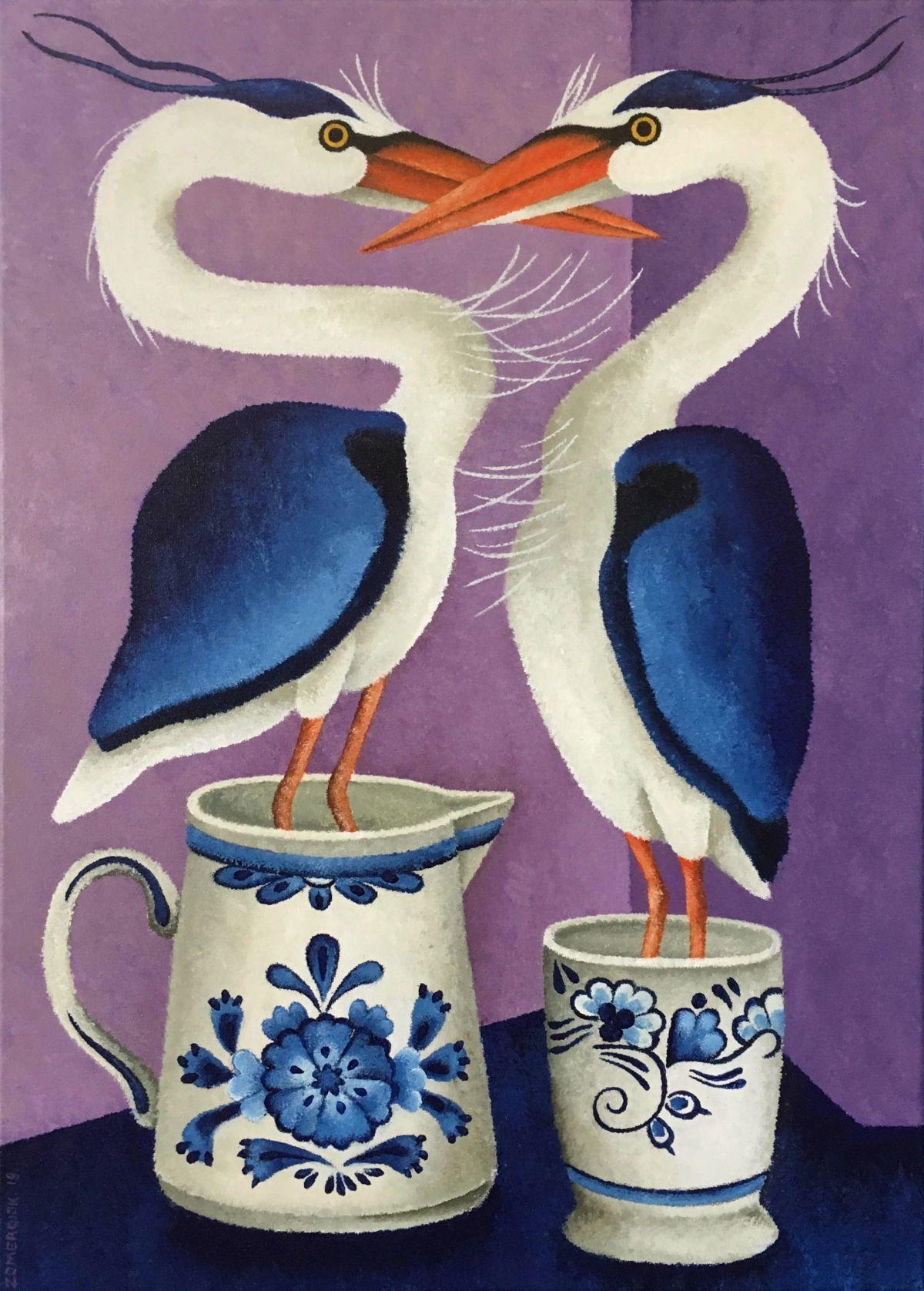Kunst: Blauw van kunstenaar Yvonne Zomerdijk
