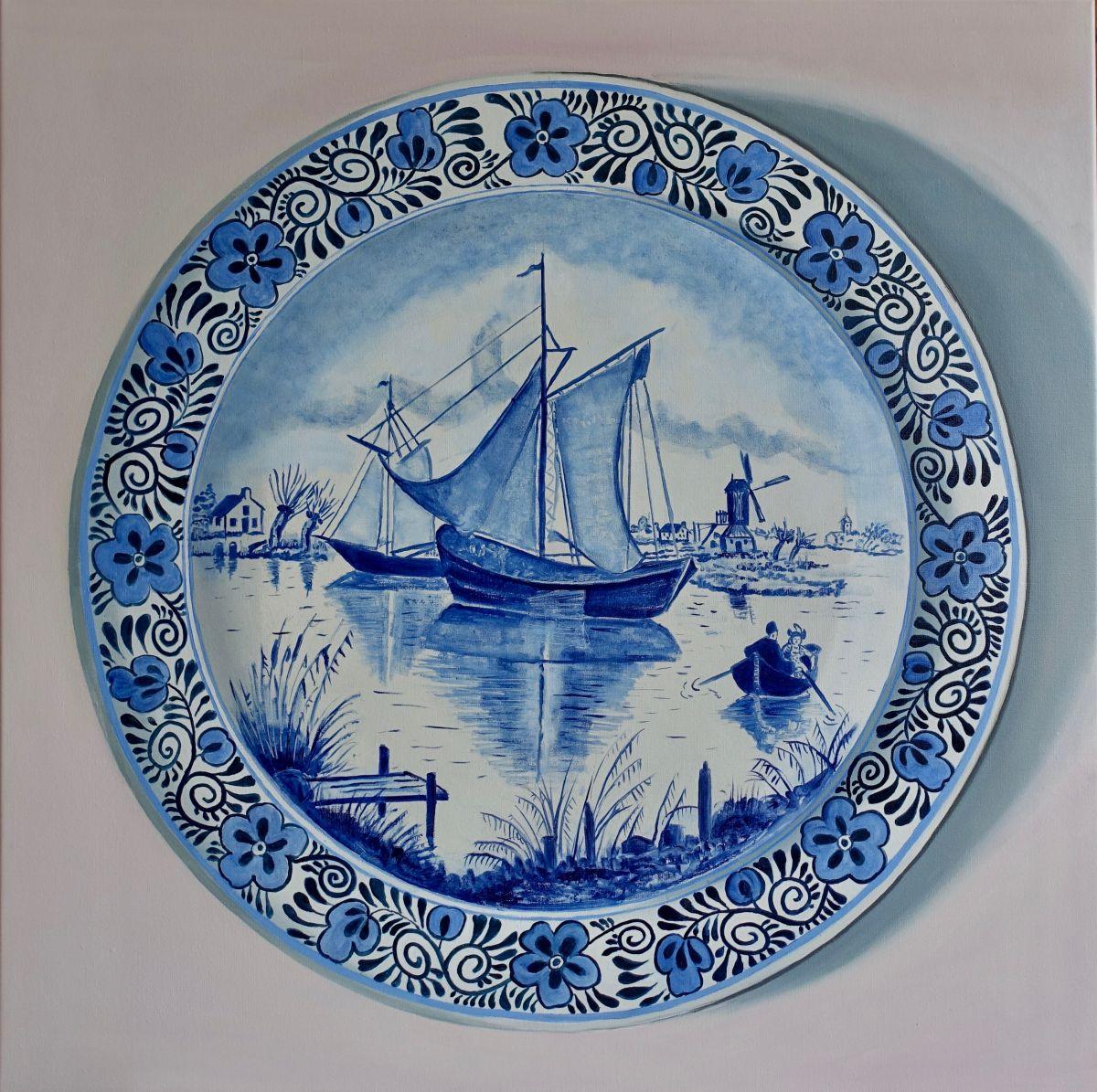 Kunst: Vlissingen – Delft Blue Plate van kunstenaar Minke Buikema