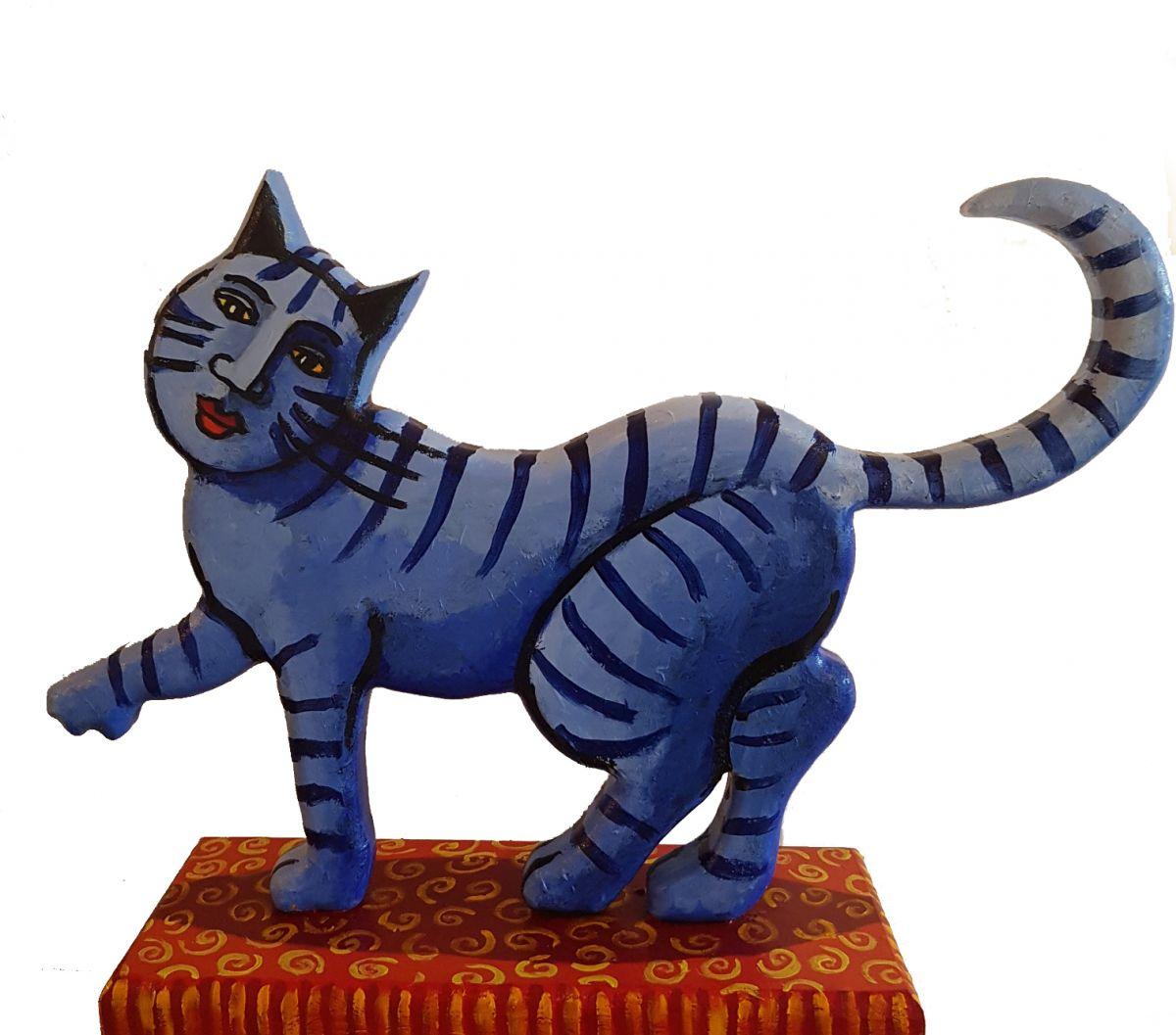 Kunst: Blauwe kat van kunstenaar Jacques Tange