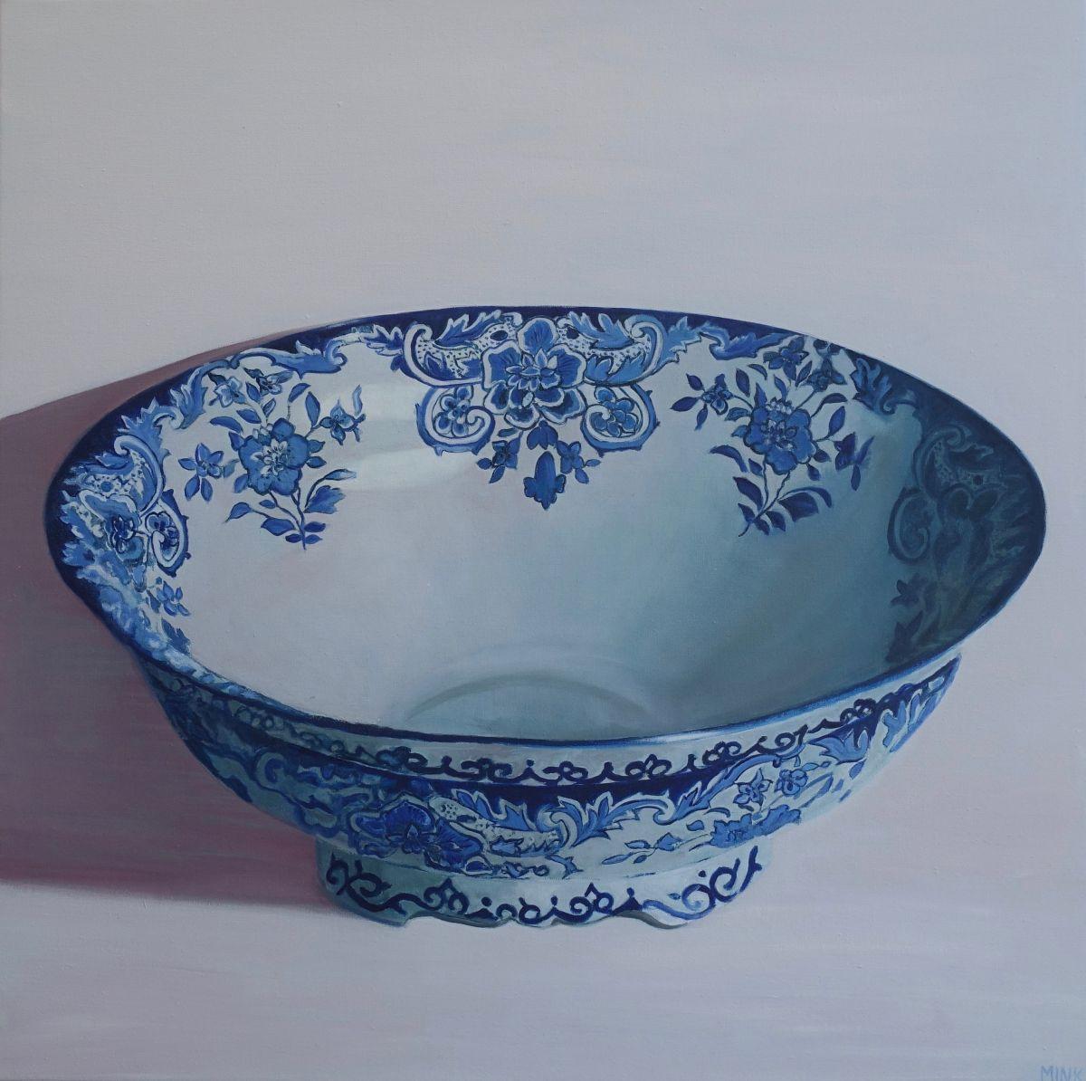 Kunst: Dordrecht – Delftware Bowl van kunstenaar Minke Buikema