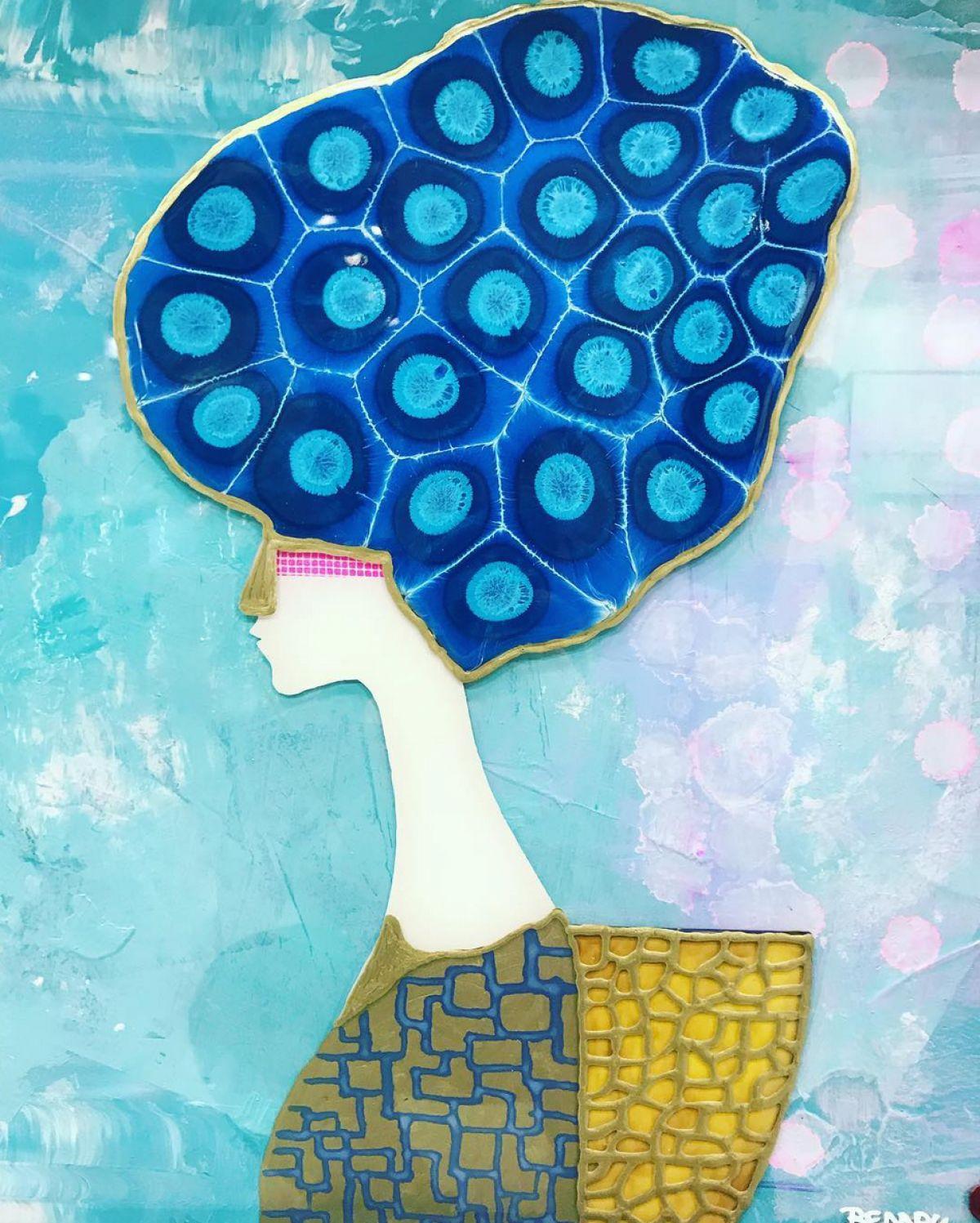Kunst: Blue Amedea van kunstenaar  Beddru