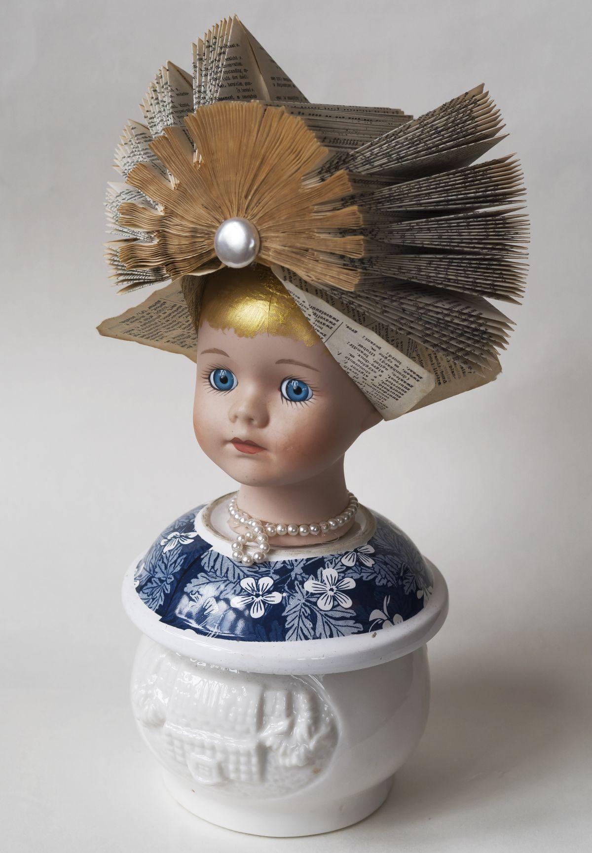 Kunst: Blue eyes with pearl van kunstenaar Frida Badoux
