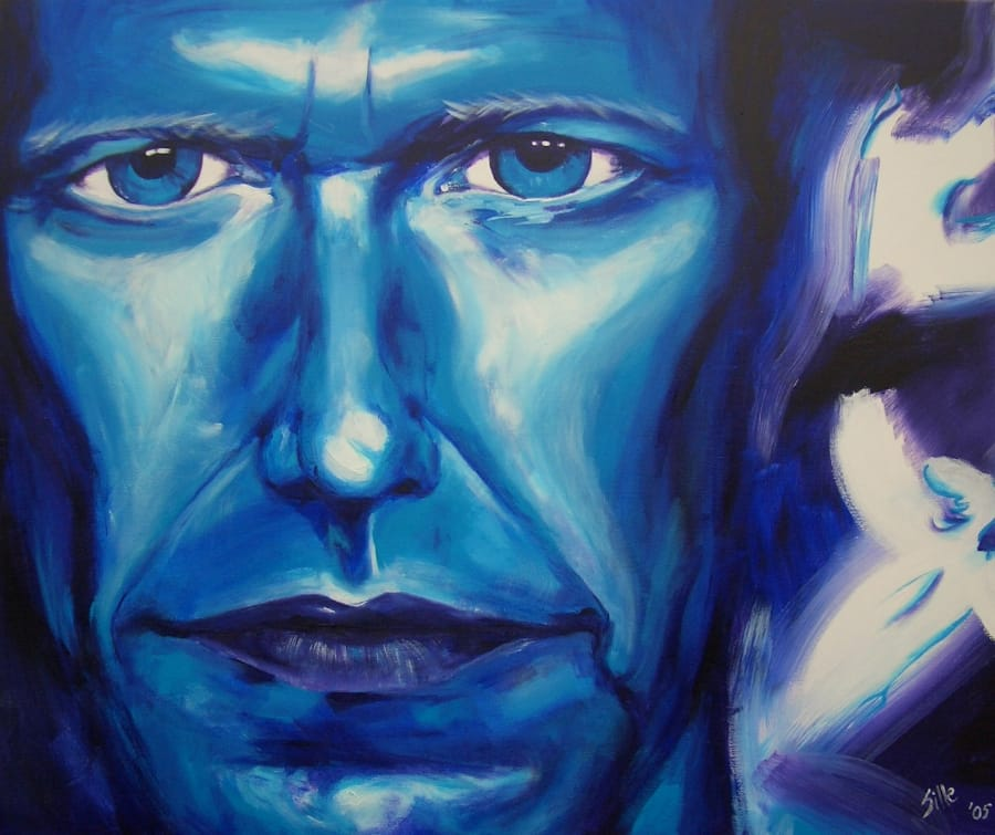 Kunst: Blue figure 2005 van kunstenaar Tamara Sille