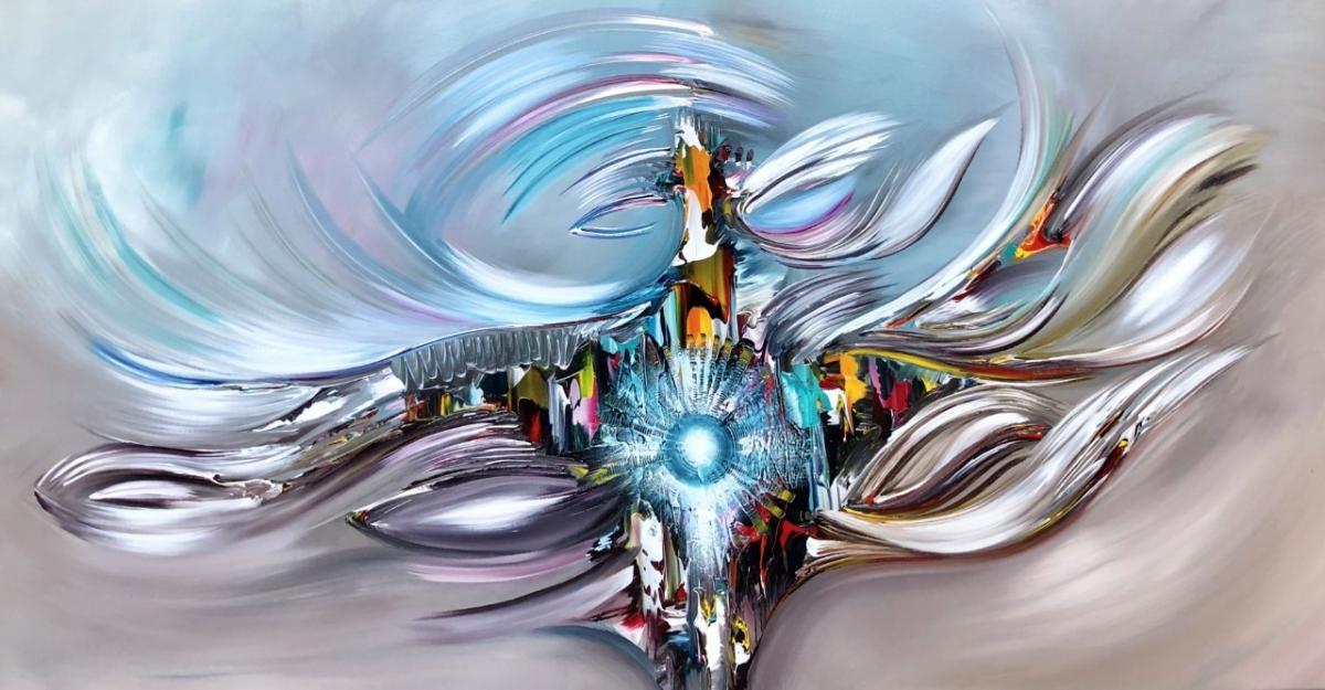 Kunst: Blue light van kunstenaar Gena n Gena