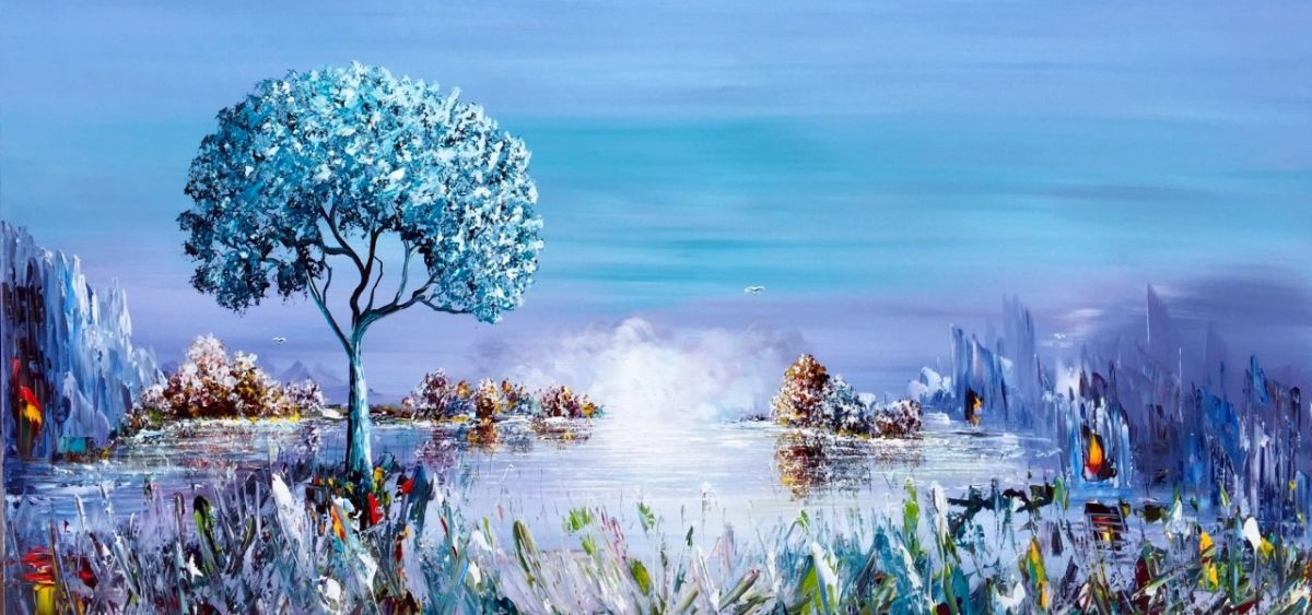 Kunst: Blue Nature van kunstenaar Gena n Gena