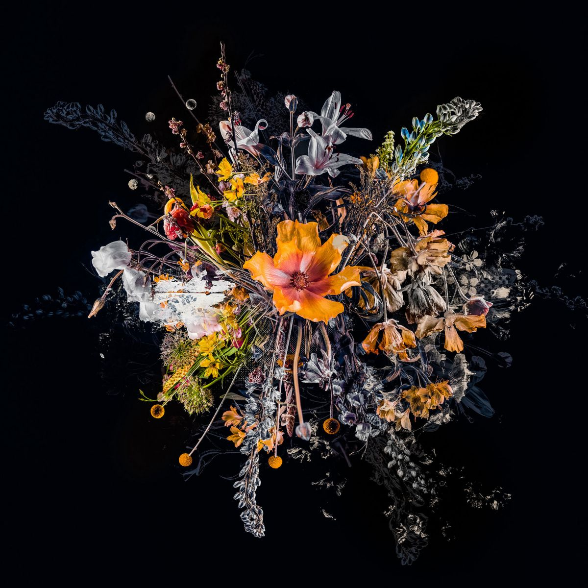 Kunst: Bouquet IV van kunstenaar Teis Albers