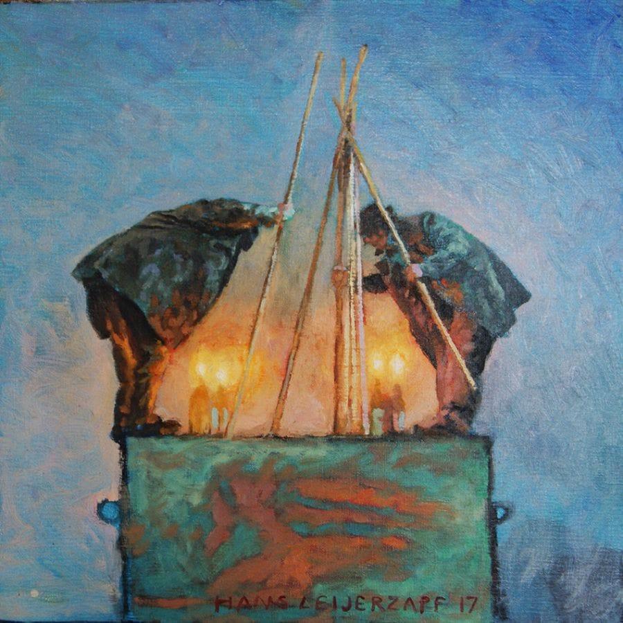 Kunst: Bouwen op gevoel van kunstenaar Hans Leijerzapf