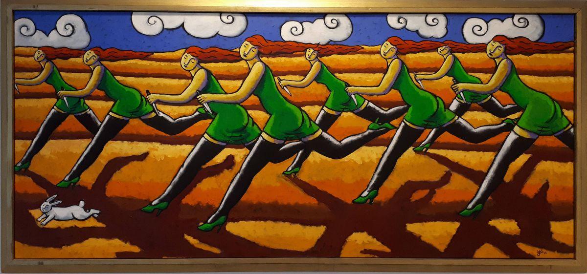 Kunst: Bunny Hunt van kunstenaar Jacques Tange