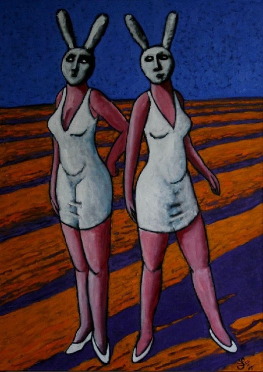 Kunst: Bunny Riot van kunstenaar Jacques Tange