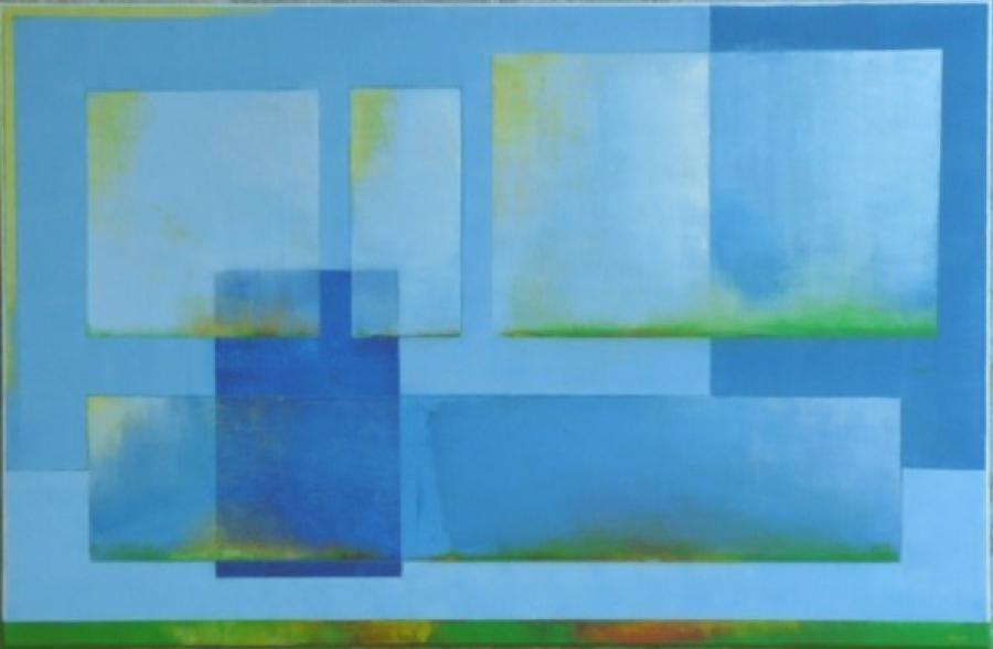 Kunst: cereleumblauw 3 van kunstenaar Koeno Jansen