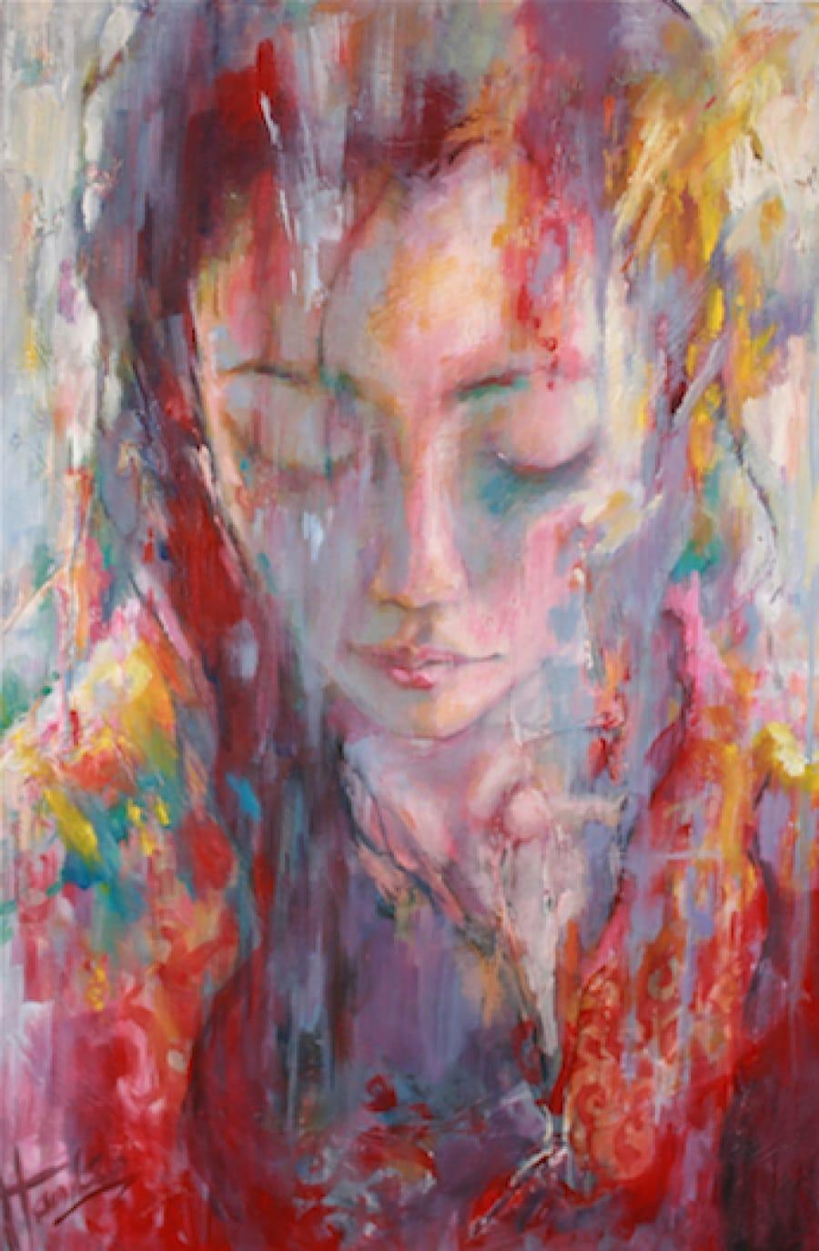 Kunst: Chang, daughter of Lin van kunstenaar Evelyn Hamilton
