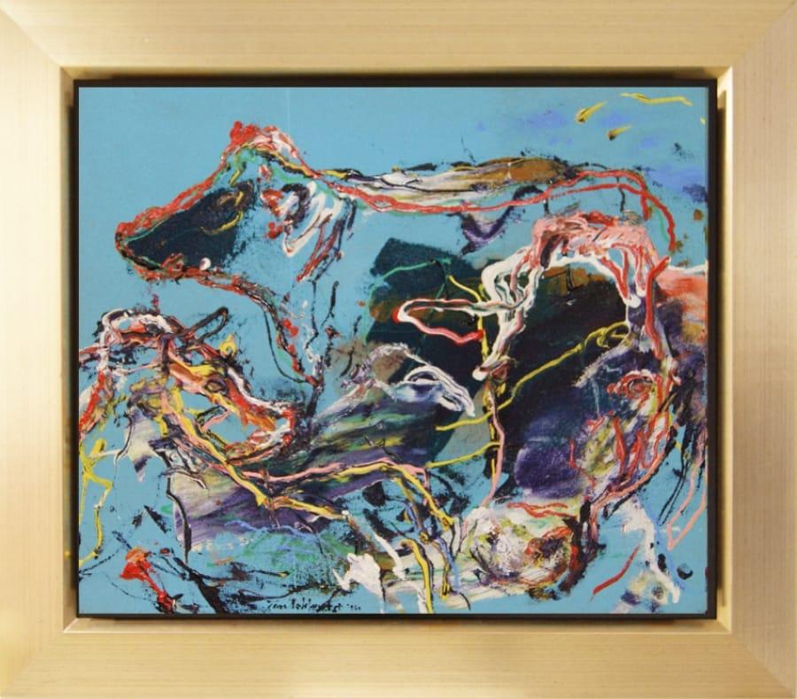 Kunst: Charolais (Koeien in blauw) van kunstenaar Jan van Lokhorst