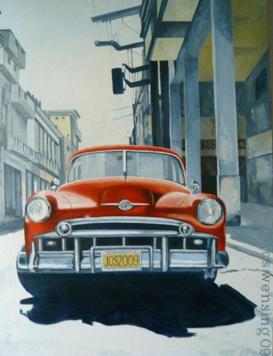 Kunst: Chevrolet van kunstenaar Jos Wensing