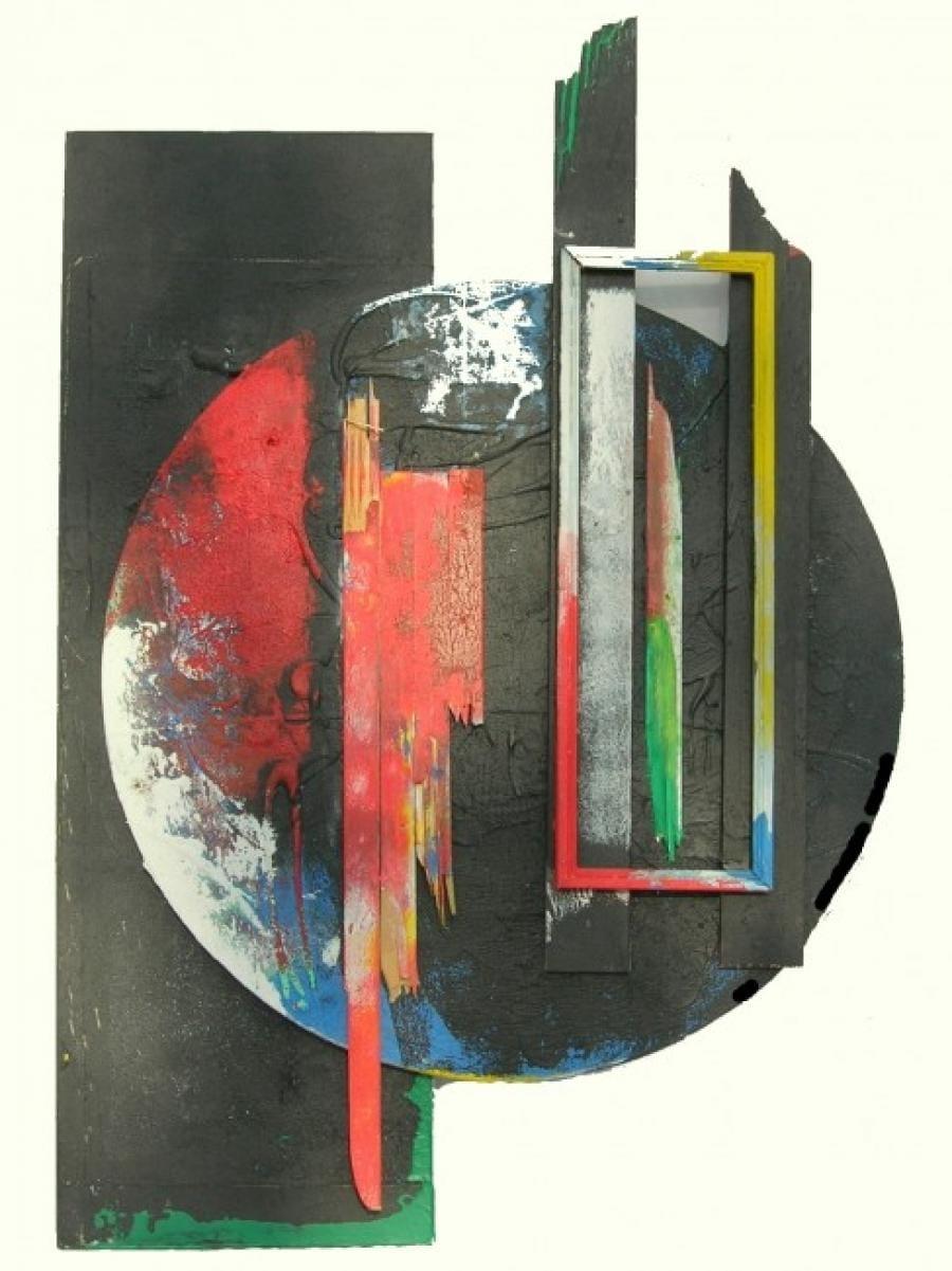 Kunst: cirkel 2 van kunstenaar Koeno Jansen