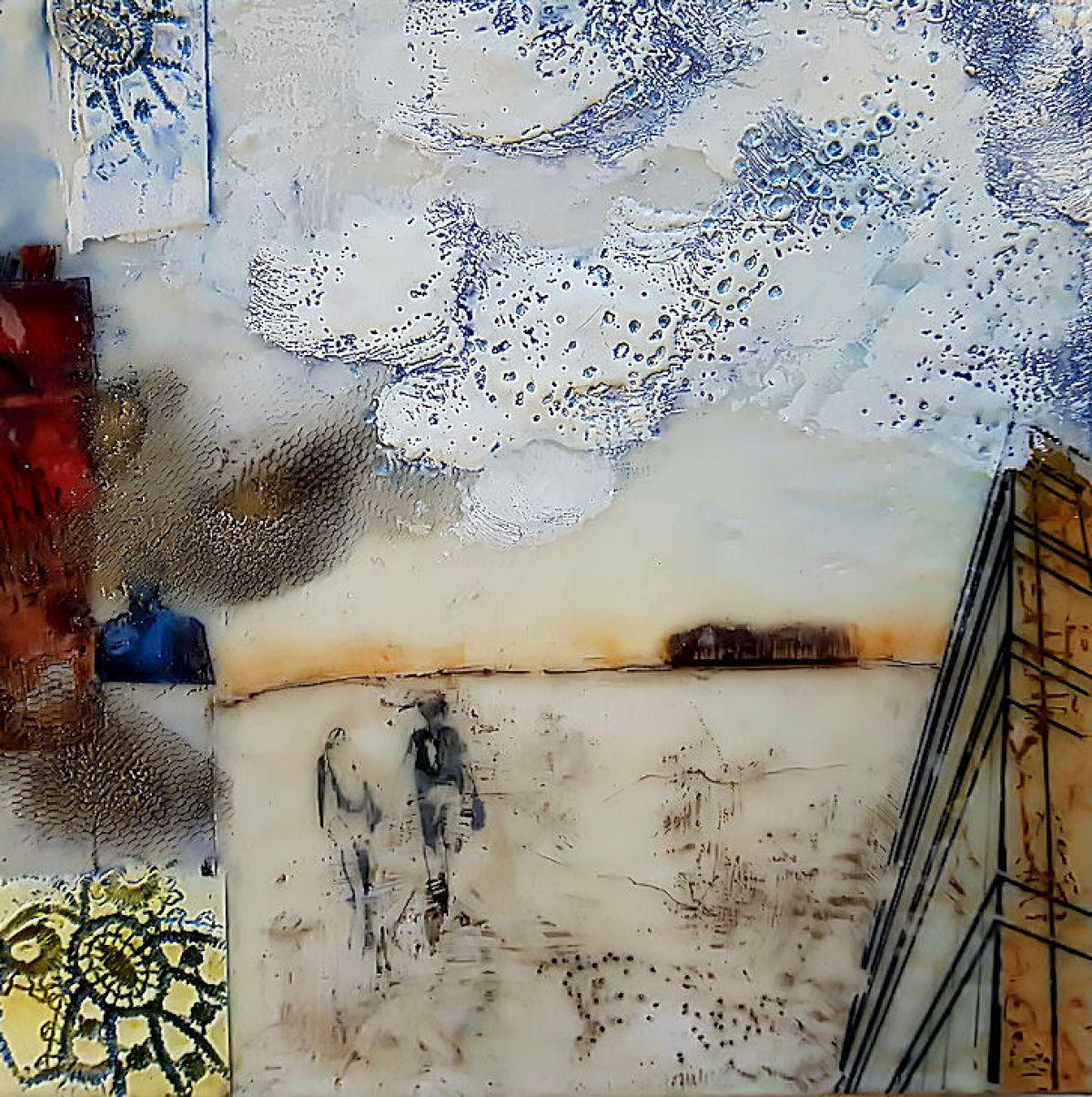 Kunst: Cloud-catcher  Nr. 1 van kunstenaar Trijnie Mohlmann