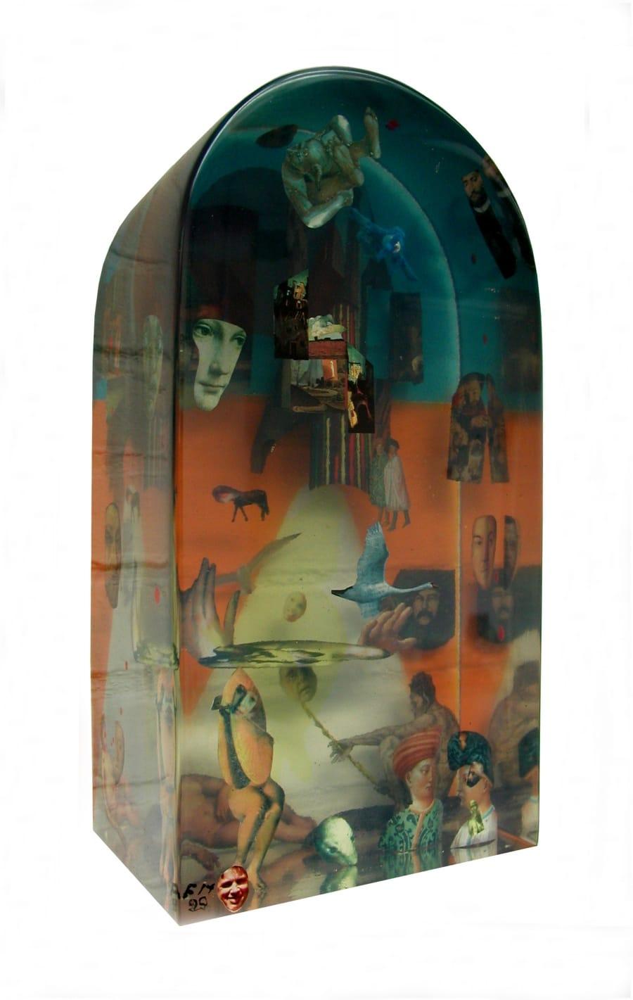 Kunst: Collage 3d.c van kunstenaar Frans Muhren