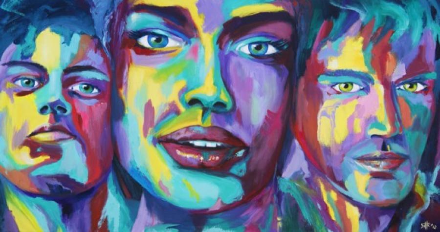 Kunst: Color grimace I van kunstenaar Tamara Sille