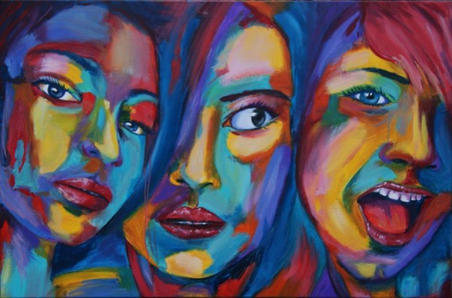 Kunst: Color grimace II van kunstenaar Tamara Sille
