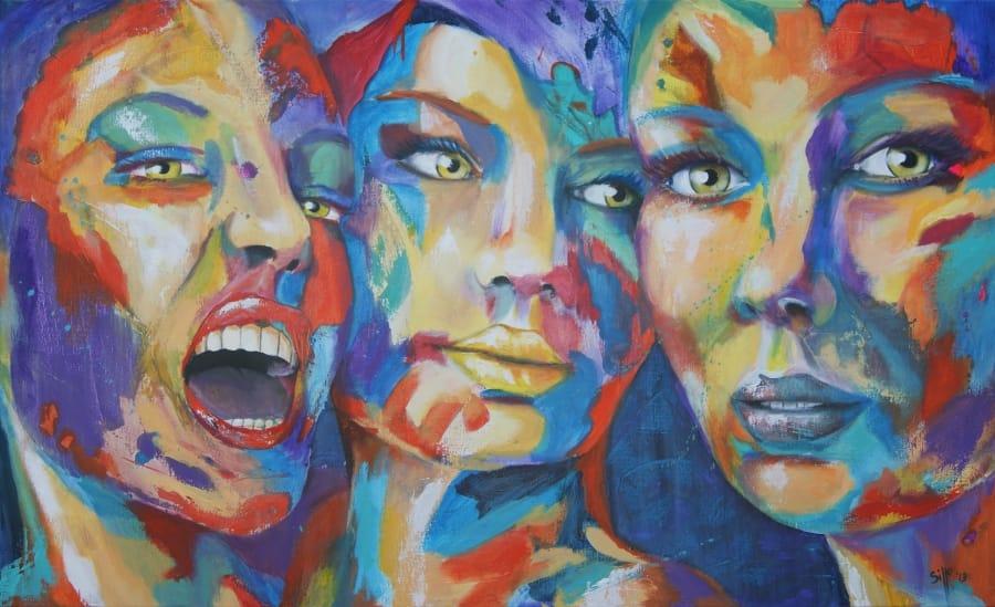Kunst: Color Grimace III van kunstenaar Tamara Sille