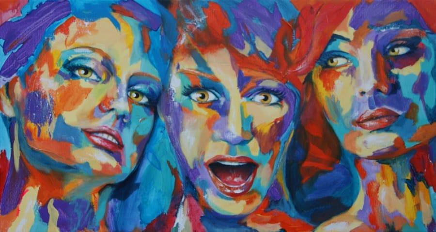 Kunst: Color Grimace IV van kunstenaar Tamara Sille