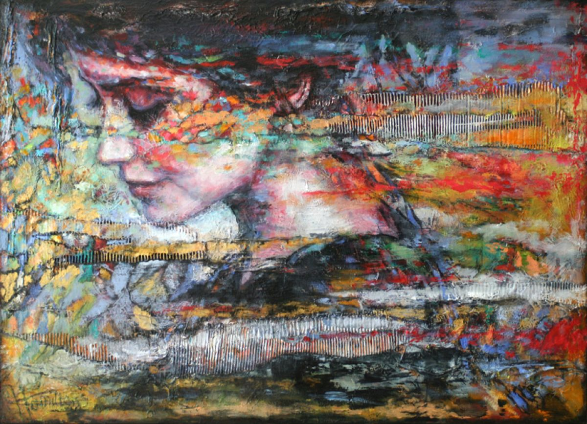 Kunst: Colors of Soul van kunstenaar Evelyn Hamilton