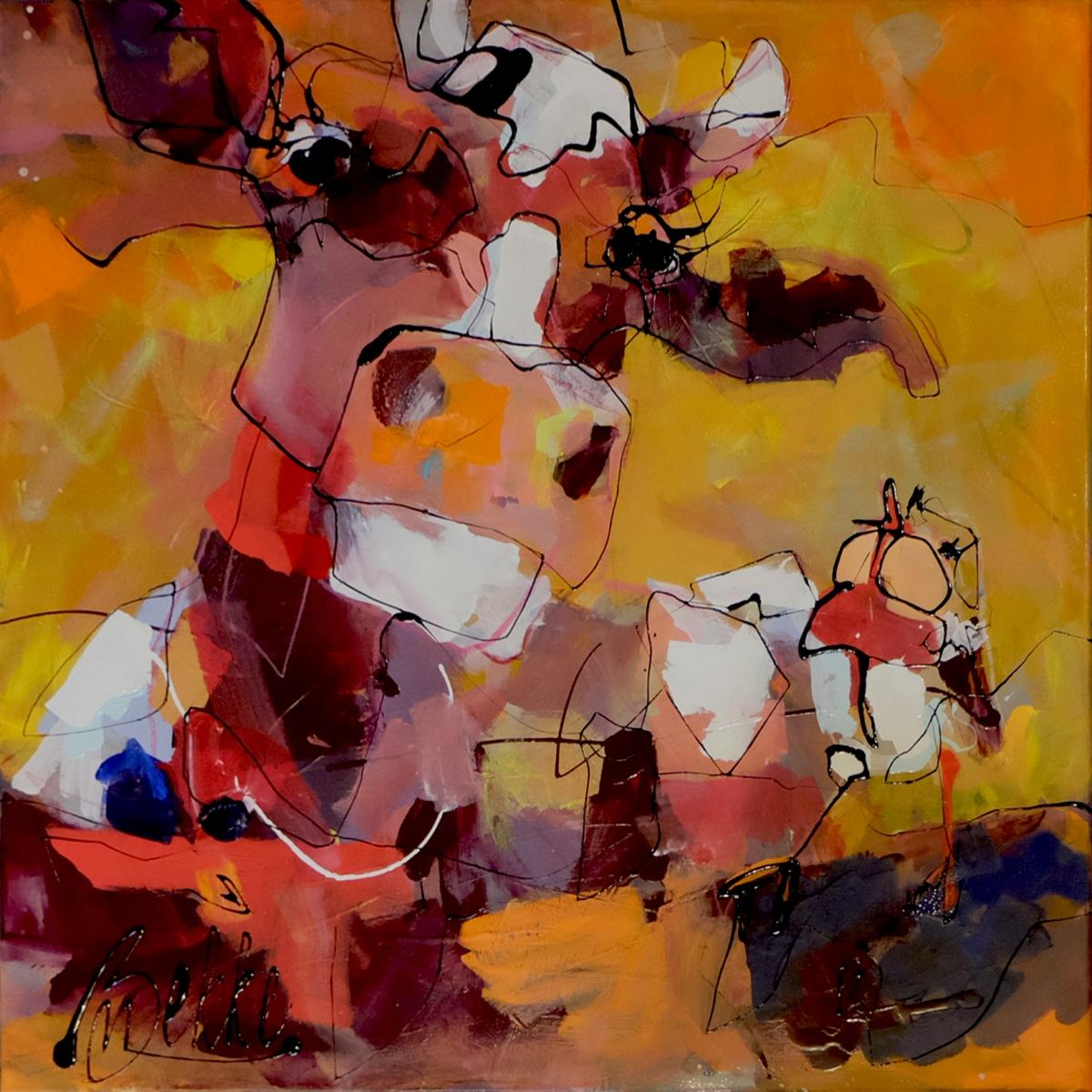 Kunst: Cowmeeting van kunstenaar Marieke Bekke
