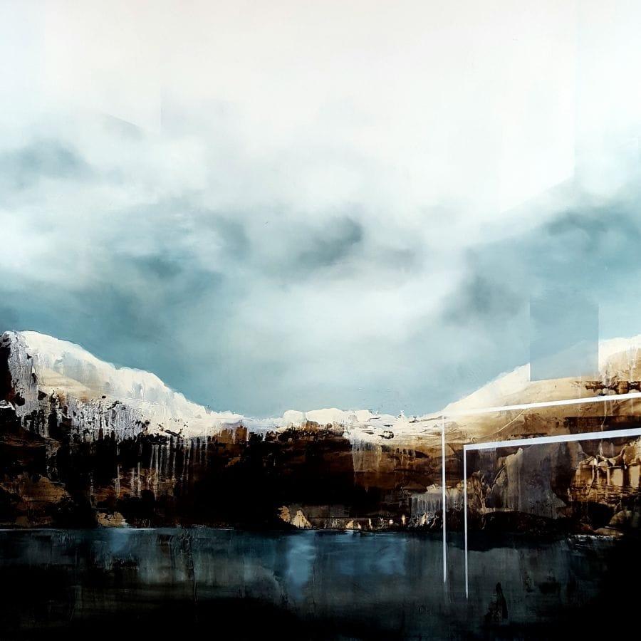 Kunst: Crystal skies III van kunstenaar Joachim van der Vlugt