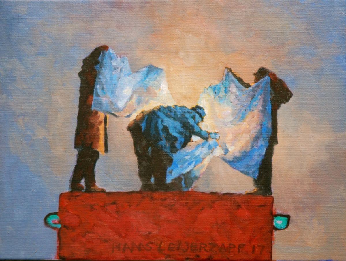 Kunst: Damasten dek van kunstenaar Hans Leijerzapf