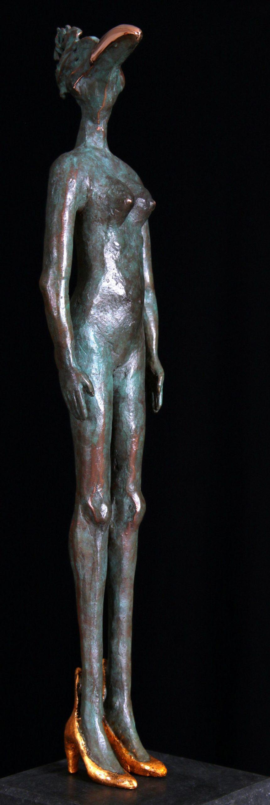 Kunst: Dame Oiseau (L216083) van kunstenaar Leny Franken