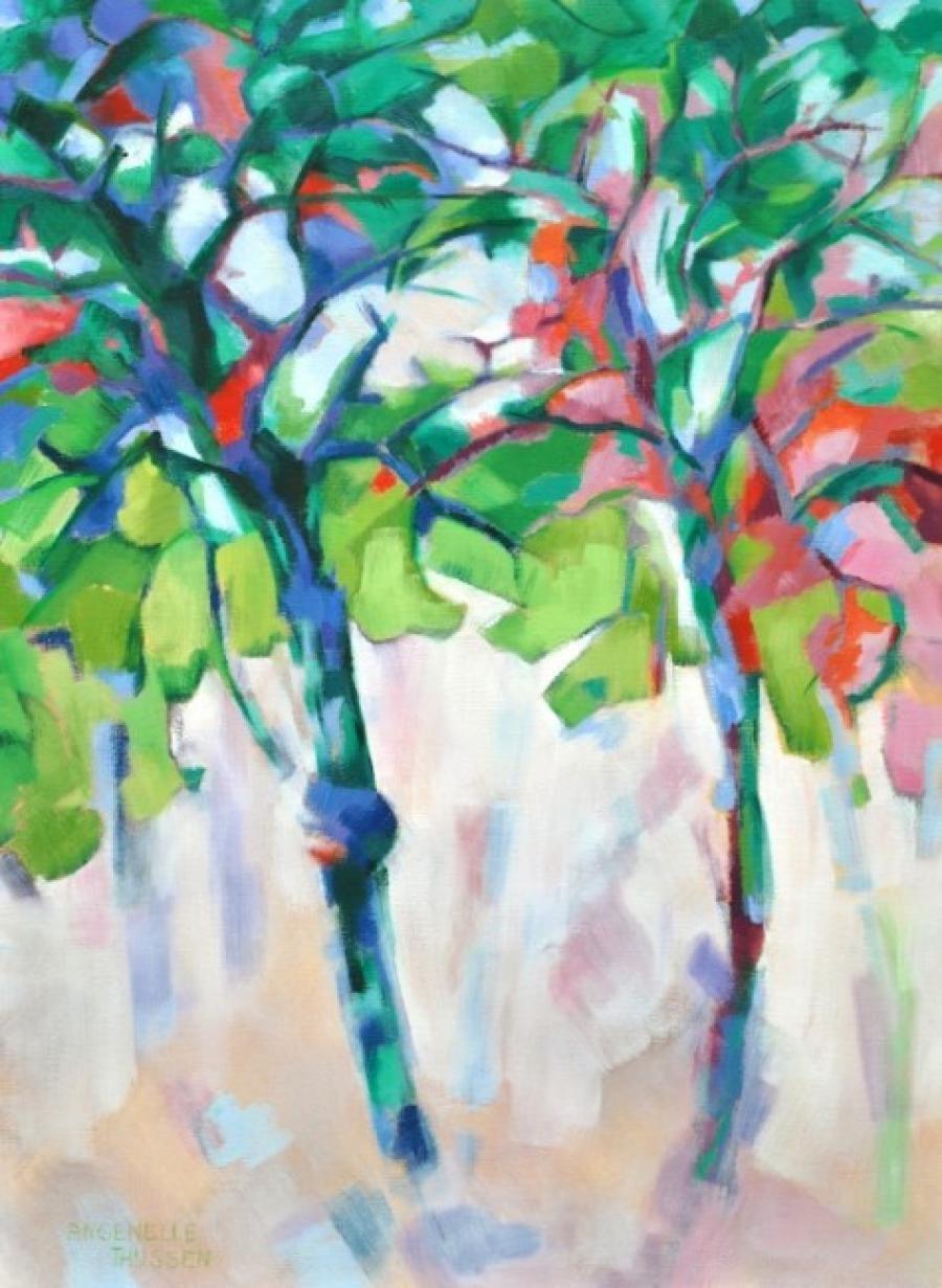 Kunst: Dancing trees van kunstenaar Angenelle Thijssen