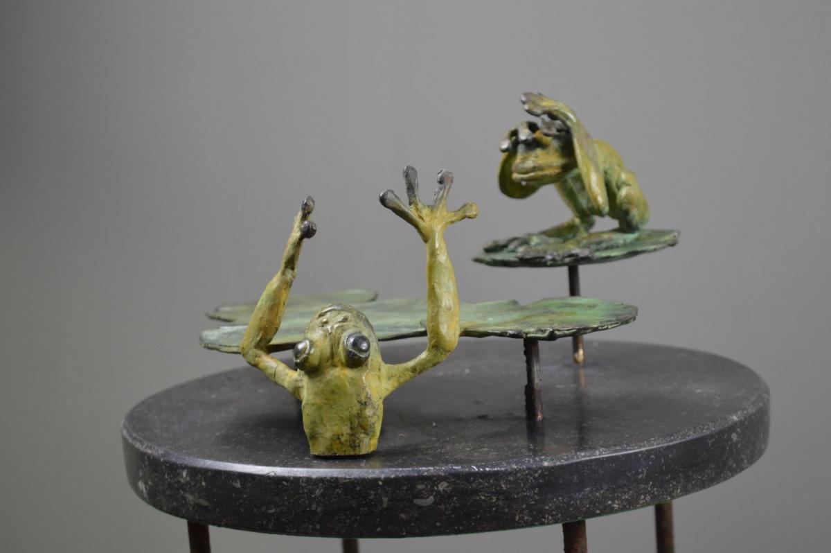 Kunst: dare to jump van kunstenaar Chris Gadiot