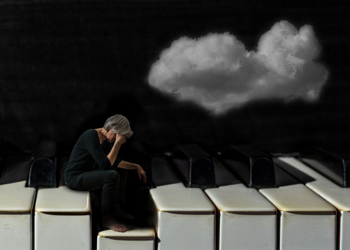 Kunst: David Cox Titel: Piano van kunstenaar  Fotobond 2018