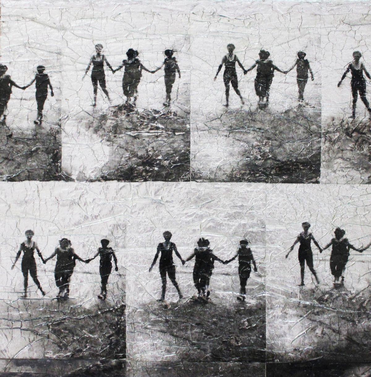 Kunst: De 4 gratiën (zoek de 4de) van kunstenaar  Reinoudt