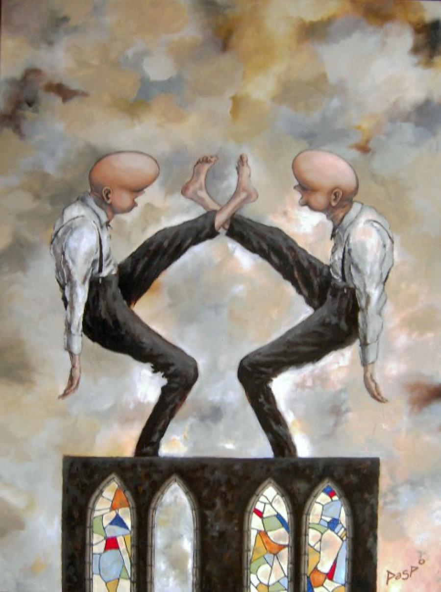 Kunst: De ene voet is de andere niet van kunstenaar Paddy Spoelder