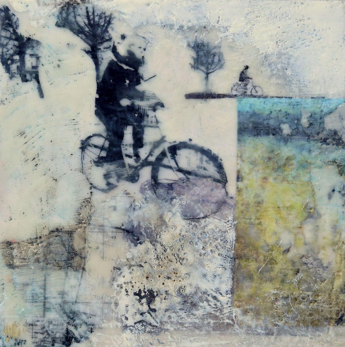Kunst: De fietser II van kunstenaar Trijnie Mohlmann