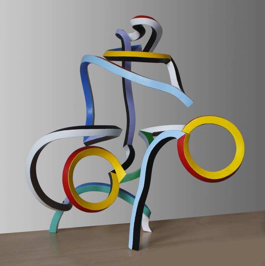 Kunst: De Klimmer (Serpentine 41) van kunstenaar Frans Muhren