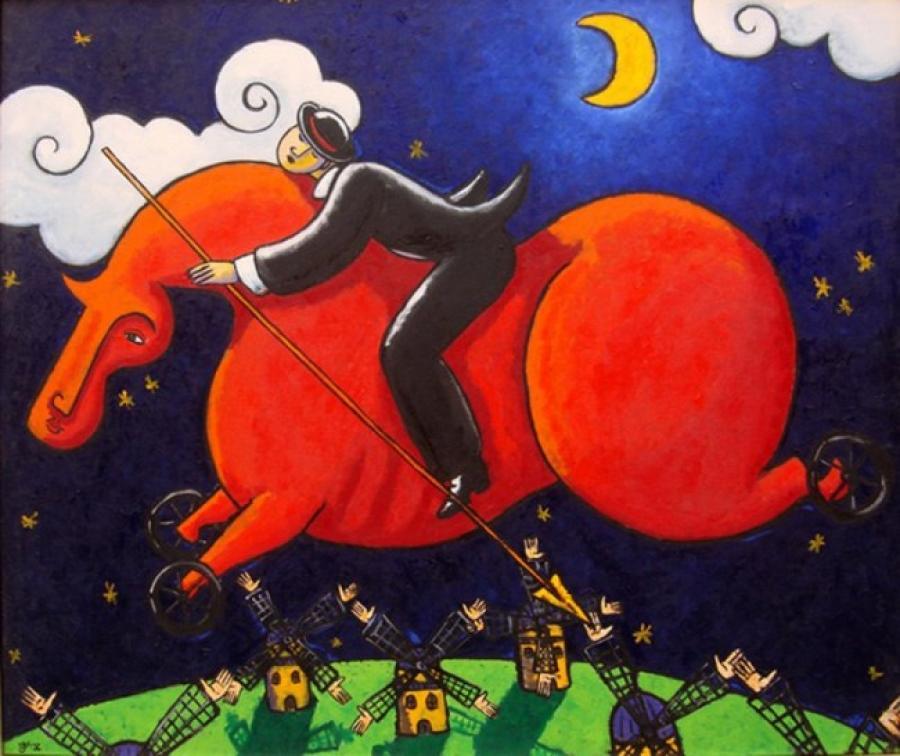Kunst: De la Mancha in Holland van kunstenaar Jacques Tange