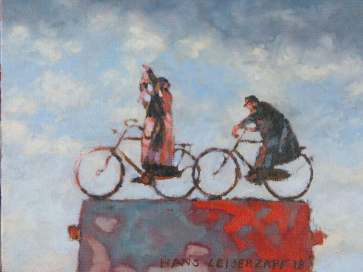 Kunst: De schrik zit er goed in van kunstenaar Hans Leijerzapf