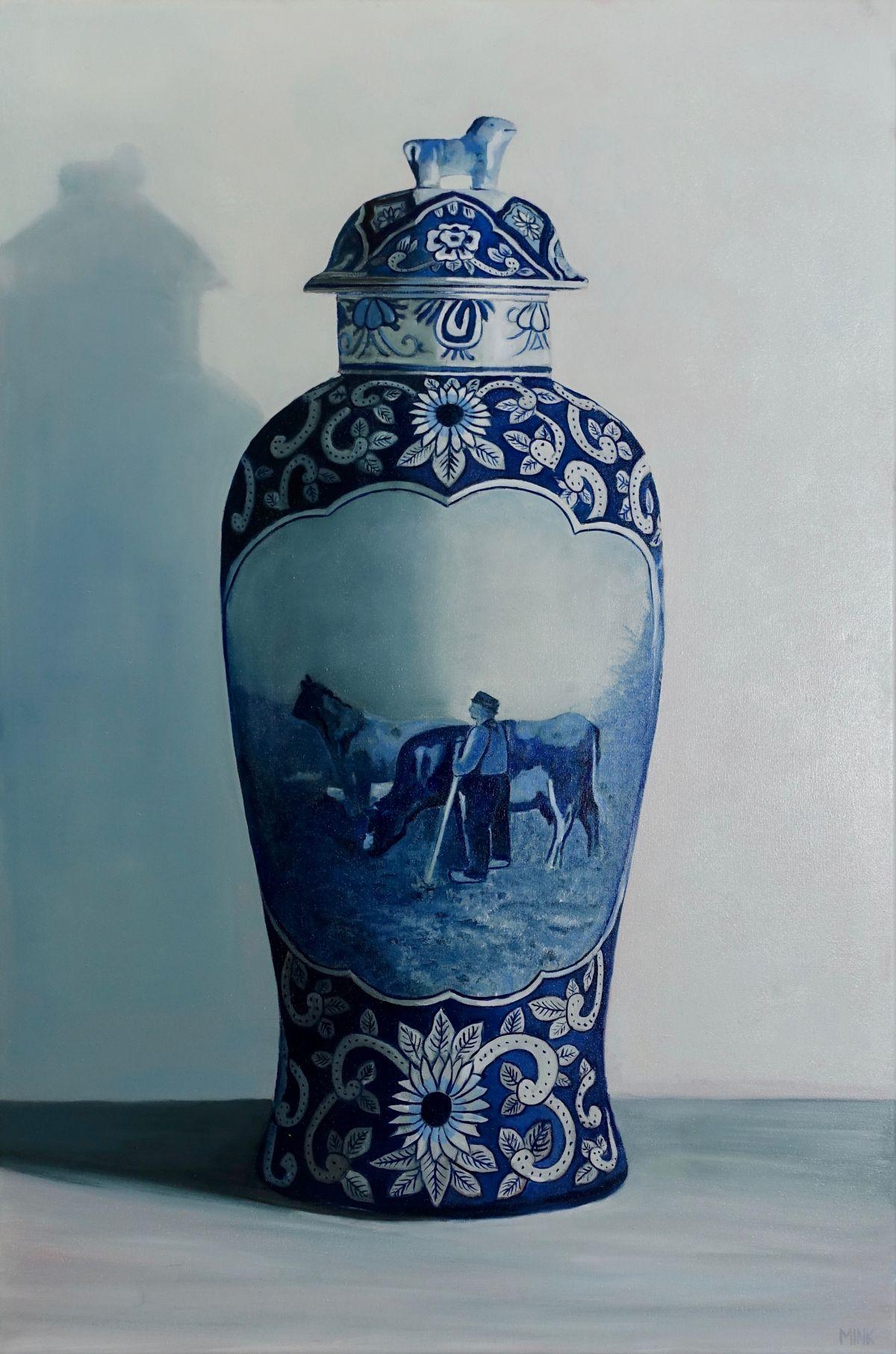 Kunst: Delft – Ceramic Vase van kunstenaar Minke Buikema
