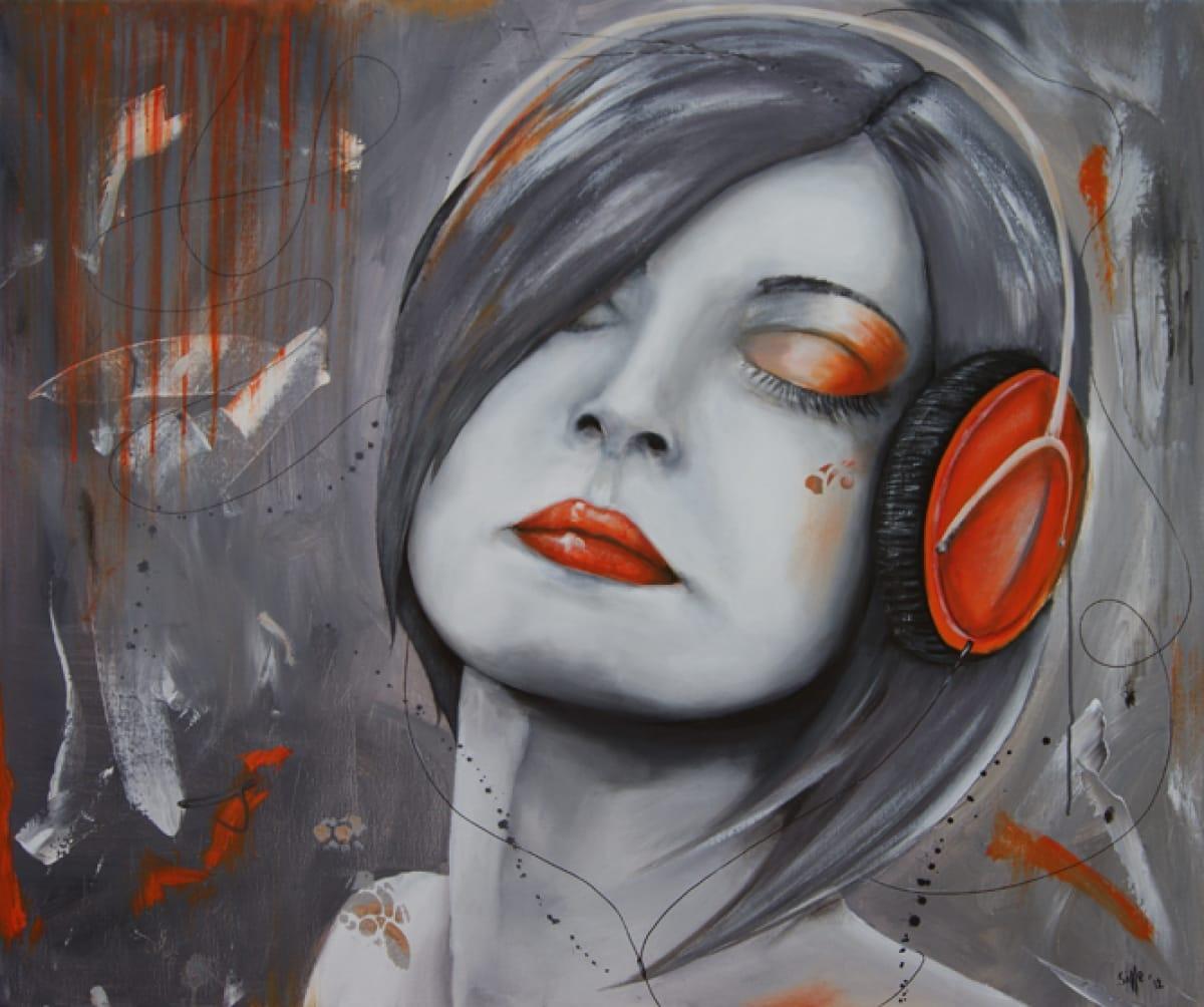 Kunst: Delight II van kunstenaar Tamara Sille